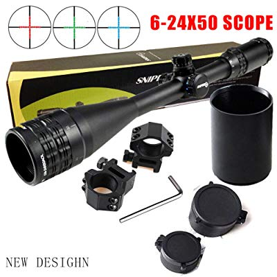 Sniper brand 6-24x50mm Mil-Dot Rifle Scope